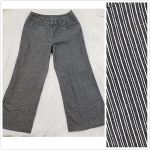 High Rise Black Pinstripe Spring Summer Trousers